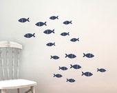 Fish Vinyl Wall Decal Set - Children Nursery - Sea Ocean Friends