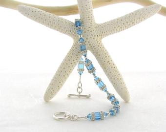 Swarovski Bracelet - Aqua