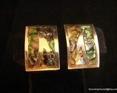 Talleres de Los Ballesteros Sterling Butterfly Mexico 1940s Mother of Pearl Large Inlaid