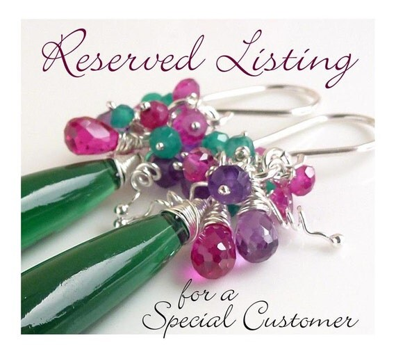 RESERVED ORDER for Rae Ann - 3 sets of Purple bridesmaid jewelry