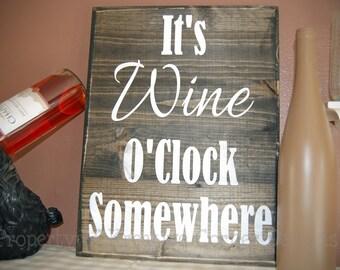 It's Wine O'Clock Somewhere Vinyl Decal