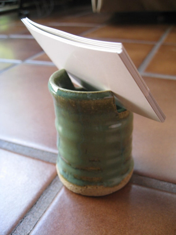 Earthy Teal Business Card Holder