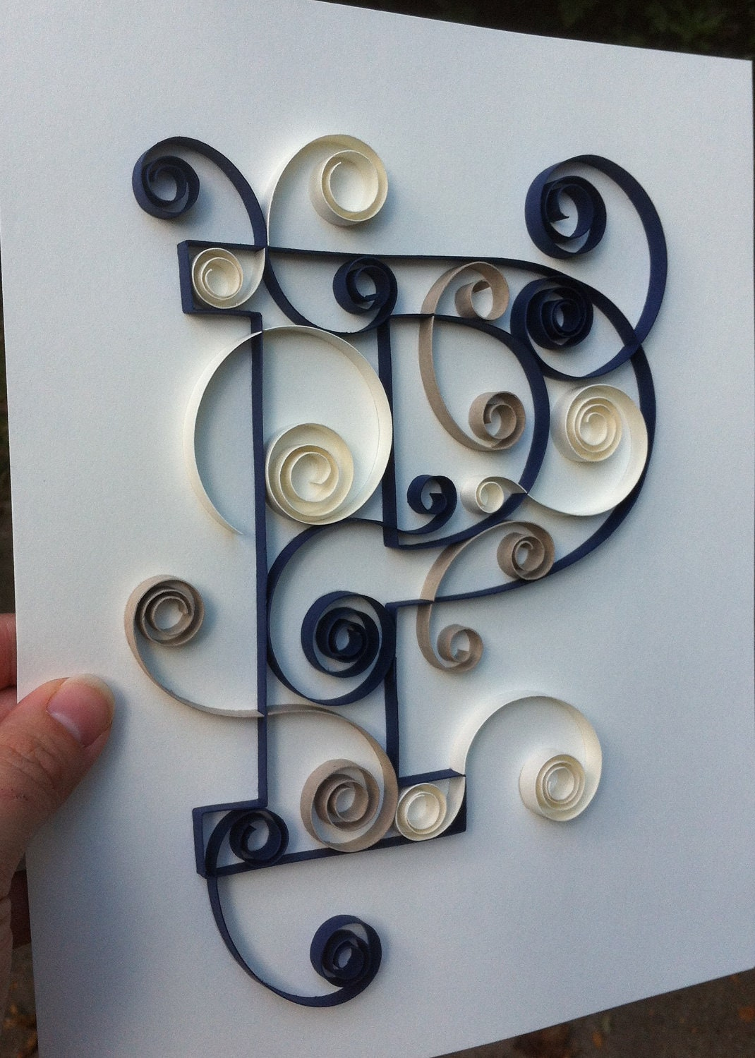 Items Similar To Quilled Letter 8x10 P On Etsy