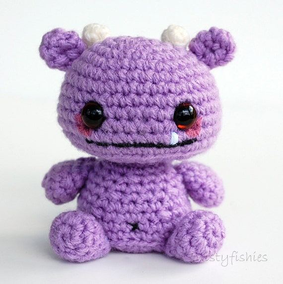 RESERVED Listing - Baby Monster Amigurumi - Purple