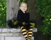Black and Yellow Striped Halloween Baby Toddler Leg Warmers FREE SHIPPING