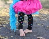 Black Dots Baby Leg Warmers