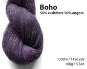 Boho Cashmere Angora Lace Yarn 100g