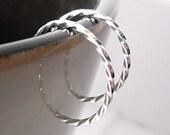 Tiny Twisted Hoops, Sterling Silver Hoop Earrings (Single Hoop, Replacement Hoop)