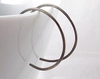 Small Niobium Hoop Earrings, Nickel Free Earrings, Niobium Earrings