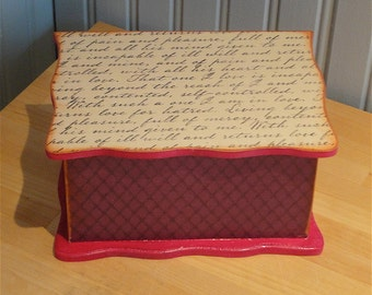 Royal in Purple and Pink Box, Recipe Box