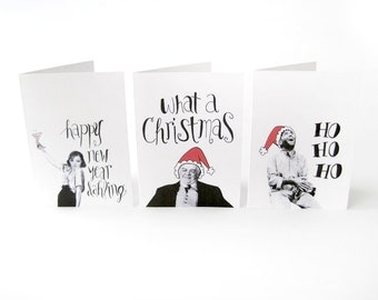 Classic movie Christmas cards // set of 5 classic film holiday cards