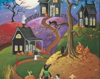 Folk Art Print All Hallows Eve
