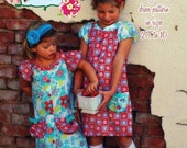 sale clearance Classic Button Short Sleeve Dress Pattern for Girls
