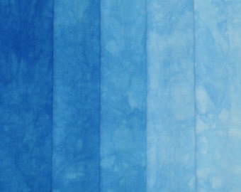 Hand Dyed Fabric Shades - Blueberry
