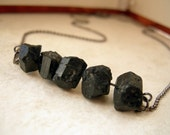 Minimalist Chunky Black Tourmaline Necklace - The Miner