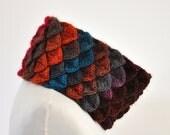 CIJ SALE Scarf Cowl Neckwarmer Crochet Crocodile Cowl Orange Brick Pink Blue Green Colorful Bright Winter Accessories Winter Fashion