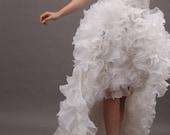 Fantastic White Strapless Sweetheart High & Low Chiffon Wedding Gown - REN10B40