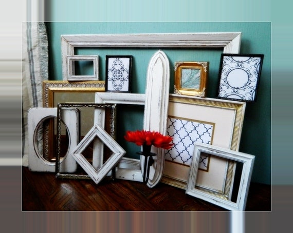 Ultra Chic Paris Apartment Wall Frames Huge  Instant Collection of 13 Vintage Shabby Chic Home Decor & Vintage Wedding Decoration