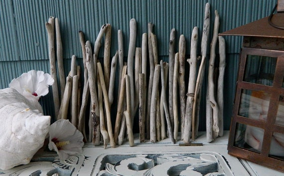 Collection of Driftwood Sticks for Crafting and Home Decor an organic Supply great for Beach Wedding Decor S39