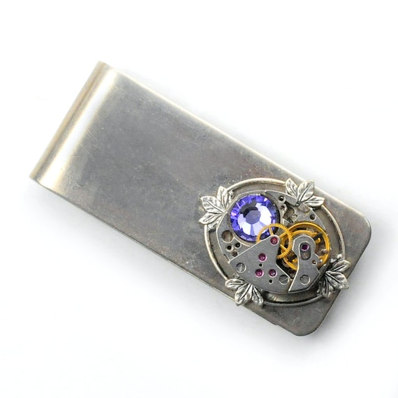 Steampunk Vintage Watch Money Clip