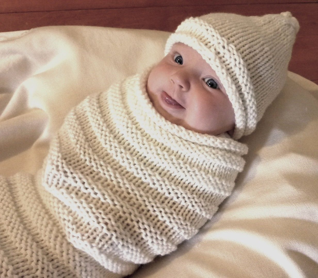 Knitted Baby Swaddle Pod Amp Hat