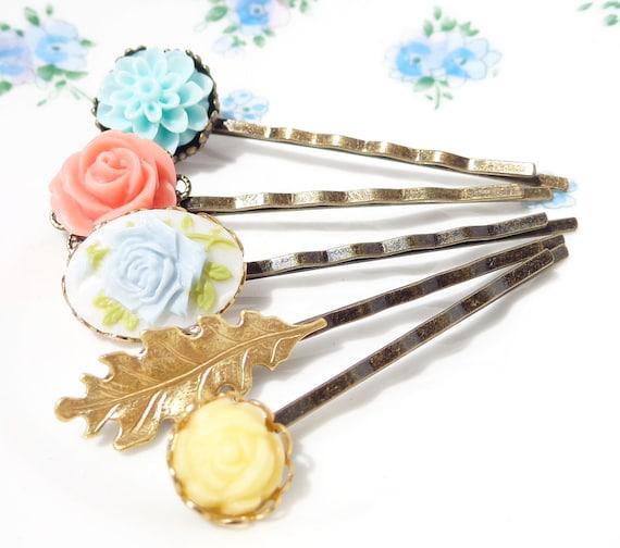Garden Flower Hair Pin Set - Bobby Pin
