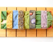 Set of 7 Full Size Bars -Bridesmaid Gifts,  Wedding Favors Soaps, Soap Favors, Bridal Shower Favors