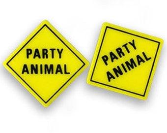 Vintage Party Animal Earrings DEADSTOCK
