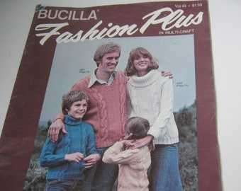 Vintage Pattern Book Knitting Crochet Bucilla Yarn