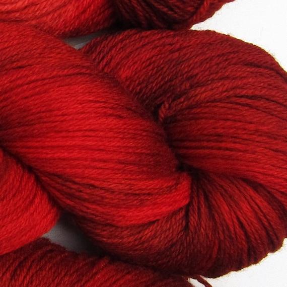 Jackalope hand dyed sock yarn fingering weight, 3ply superwash with nylon, 100g - Chili 2