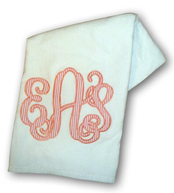 Monogrammed Applique Beach Towel