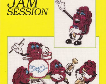 The California Raisins Jam Session Cross Stitch Pattern Leaflet 5