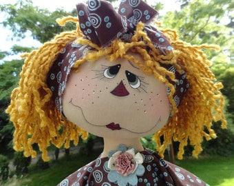 Annie Melody Ann doll INSTANT DOWNLOAD pattern  214  ET