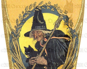 Vintage Halloween Witch Potion Bottle Label Digital Download - Full Moon Philtre High Resolution