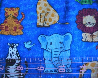 """SALE 50% Off - Fabric Traditions """"Jungle Menagerie""""  Premium Cotton Fabric 1.75Yds OOP"""
