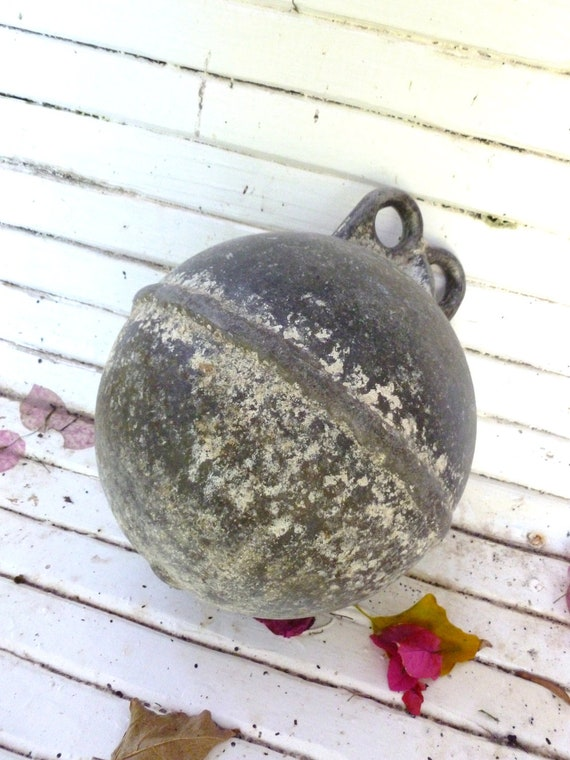 Vintage Buoy Steel Lead not really sure Nautical