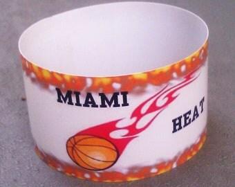 Miami Heat wraparound cupcake wrappers--set of 12