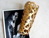 Leather Cuff Bracelet Golden Cuff