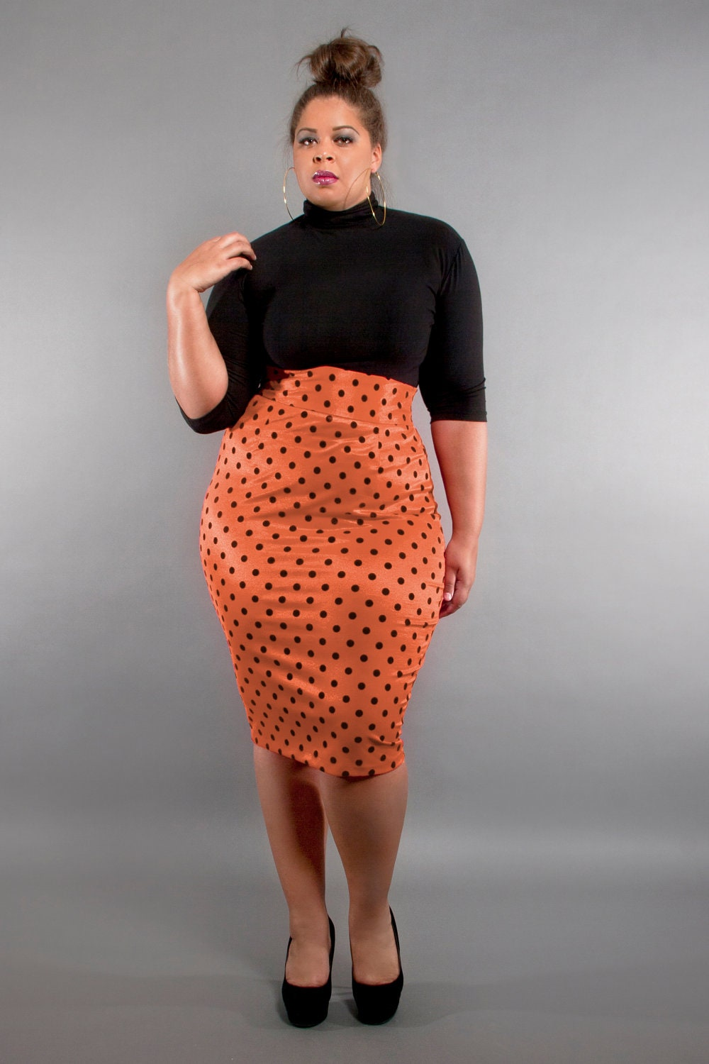 Jibri Plus Size High Waist Pencil Skirt Sherbet By Jibrionline