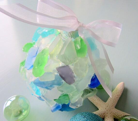 Items similar to sea glass beach decor christmas ornament for Beachy decor items