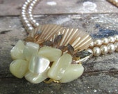 1950s Pearl, Shell & Stone Necklace