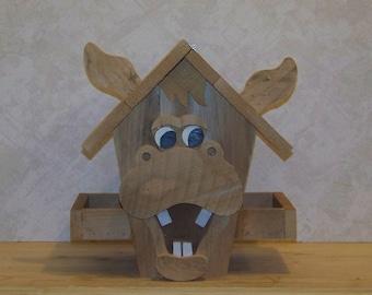 Goofy Donkey Cedar Birdfeeder