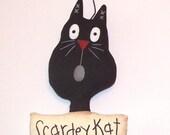 Black Cat Ornament Halloween Cupboard Tuck