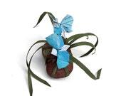 Map-tacular Butterflies Paperweight Centerpiece Sculpture by Paper Disciple