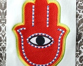 Hamsa Hand 5, INSTANT DIGITAL DOWNLOAD, Embroidery Design for Machine Embroidery 5x7