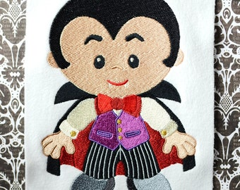 Dracula, INSTANT DIGITAL DOWNLOAD, Halloween Embroidery Design for Machine Embroidery 5x7