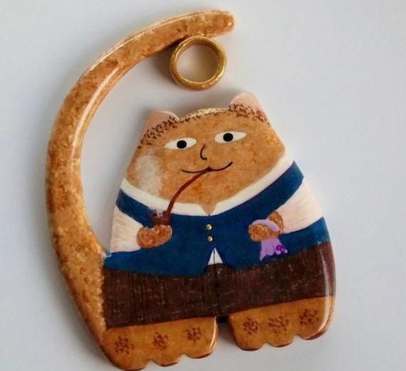 Fridge Magnet - Fat Cat Hobbit Bilbo Baggins