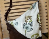 Brown Green Blue Floral Purse- reserved for Neal Spencer