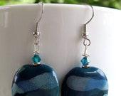 Deep Waters Earrings - Kazuri Beads