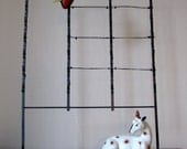 Antique Wire and Clip Display Rack